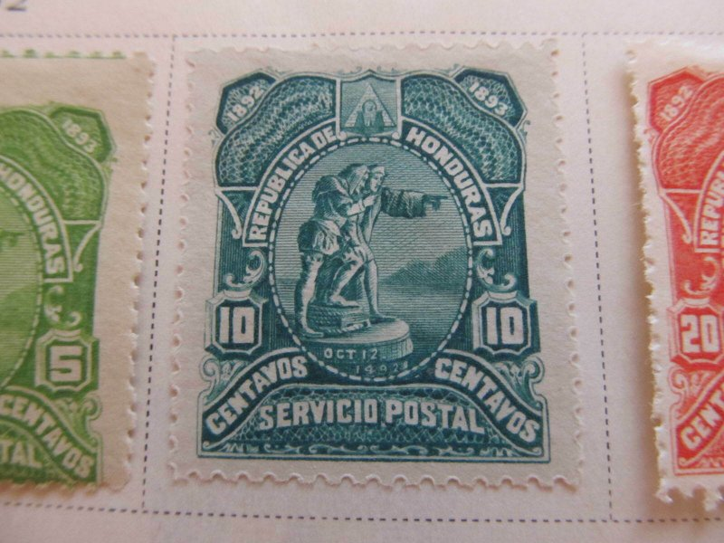 Honduras 1892 10c fine mng stamp A11P11F10