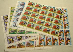 6 Sierra Leone DISNEY Space Ark Fantasy Topical Stamps Postage Blocks MINT NH