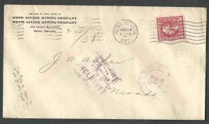 DATED 1922 COVER RENO NV RENO DIVIDE MINING CO & BEVIS DIVIDE MINING CO