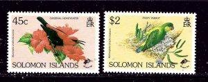 Solomon Is 681-82 MNH 1990 Birds partial set