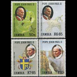 ZAMBIA 1989 - Scott# 470-3 Pope Visit Set of 4 NH