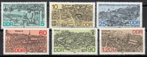 East Germany - 1988 Towns Sc# 2668/2673 - MNH (425)