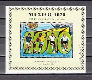 Chad, Scott cat. 227 F. World Cup Soccer Deluxe s/sheet. *
