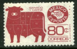 MEXICO Exporta 1113c 80¢ Cattle Unwmk Perf 11 Th Paper 3 MINT, NH. VF.