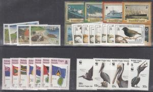 Virgin Islands Mint NH sets (Catalog Value $59.35)  [3R0193]