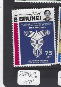 BRUNEI  (P2608B)   TELECOMS  SG 296-7  MNH