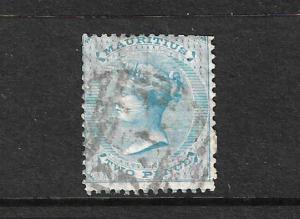 MAURITIUS  1863-72  2d  PALE BLUE  QV  FU  SG 59