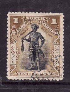 North Borneo-Sc#79-used 1c bis brown & black-1897-1900-