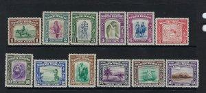 NORTH BORNEO SCOTT #193-204 1939  PICTORIALS (SHORT SET) MINT SOME NH/LH