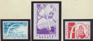 Belgium Stamps Scott #B669 To B671, Mint Lightly Hinged - Free U.S. Shipping,...