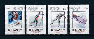 [55578] Bhutan 1984 Olympic games Sarajevo Skiing Skating Bobsleigh MNH