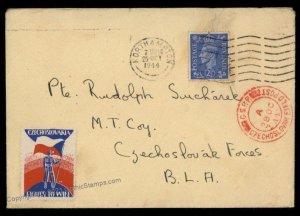 Great Britain Czech Legion in England Cover Polni Posta Feldpost G72197