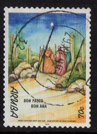 Aruba   #183  used  1999  Christmas  70c