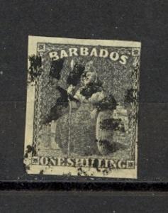 Barbados Scott 9 Used fine (Catalog Value $85.00)