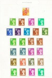 GB SCOTLAND - VFMNH - MACHIN definitives - 26 different