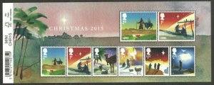 MS3779 2015 Christmas Barcode miniature sheet UNMOUNTED MINT