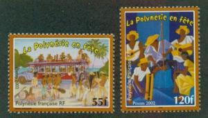 French Polynesia #840-841  Mint  F NH  Scott $3.75