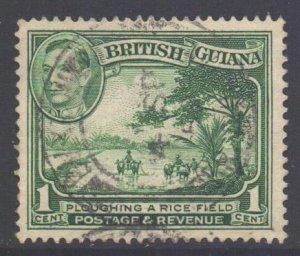 British Guiana Scott 230b - SG308ab, 1938 George VI 1c Perf14 x 13 used