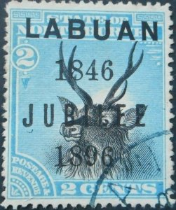 Labuan 1896 Two Cents Jubilee opt SG 84 used