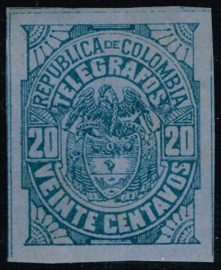 Colombia Telegraph Stamp (Yvert #TE27); Unused (3Stars)