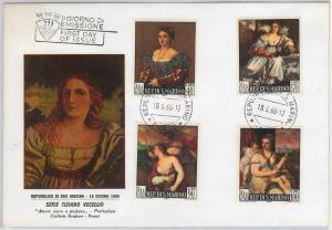 SAN MARINO -  POSTAL HISTORY - FDC COVER to ITALY 1966 - ART: TIZIANO