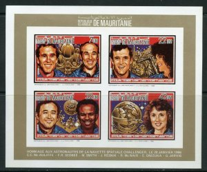 MAURITANIA 1986 MEMORIAL FOR THE SPACE SHUTTLE CHALLENGER DELUXE IMP COL SHEET
