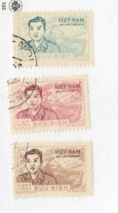 VIET NAM # O10-O12 VF-LIGHTLY USED CAT VALUE $50