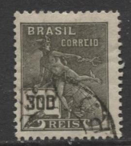 Brazil - Scott 228 - Mercury Issue -1920 - Used - Single 300r Stamp