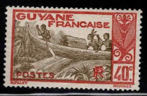 French Guiana Scott 121 MH* stamp expect similar centering