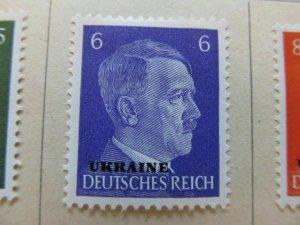 Deutsche Post Ukraine Germany Soviet Occupation 1941 6pf fine mh* A11P10F205