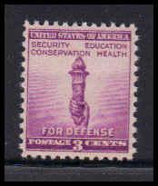 901 3c Torch Of Freedom Fine Plus MNH W4349