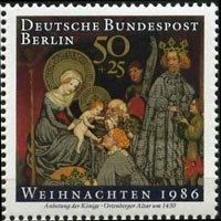 GERMANY-BERLIN 1986 - Scott# 9NB242 Christmas Set of 1 NH