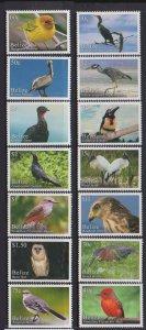 Belize 2020 birds nice set of 14v MNH