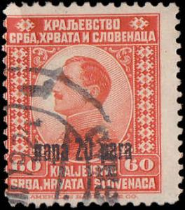 Yugoslavia Scott 27 King Alexander Surcharged Used