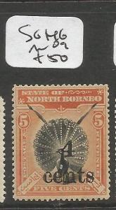 North Borneo SG 146 MOG (4clr)