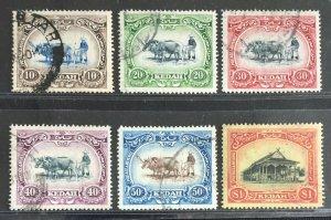 Malaya Kedah 1912 Definitive 6V MCCA Used SG#6-11 M3122