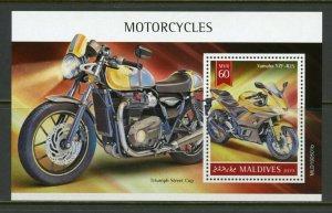 MALDIVES 2019  MOTORCYCLES  SOUVENIR SHEET   MINT NH