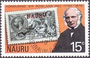 Nauru # 196 mnh ~ 15¢ Rowland Hill and Stamp