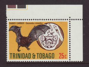 1975 Trinidad 25c Bat U/M
