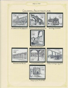 mexico mexican colonial architecture stamps page ref 17249