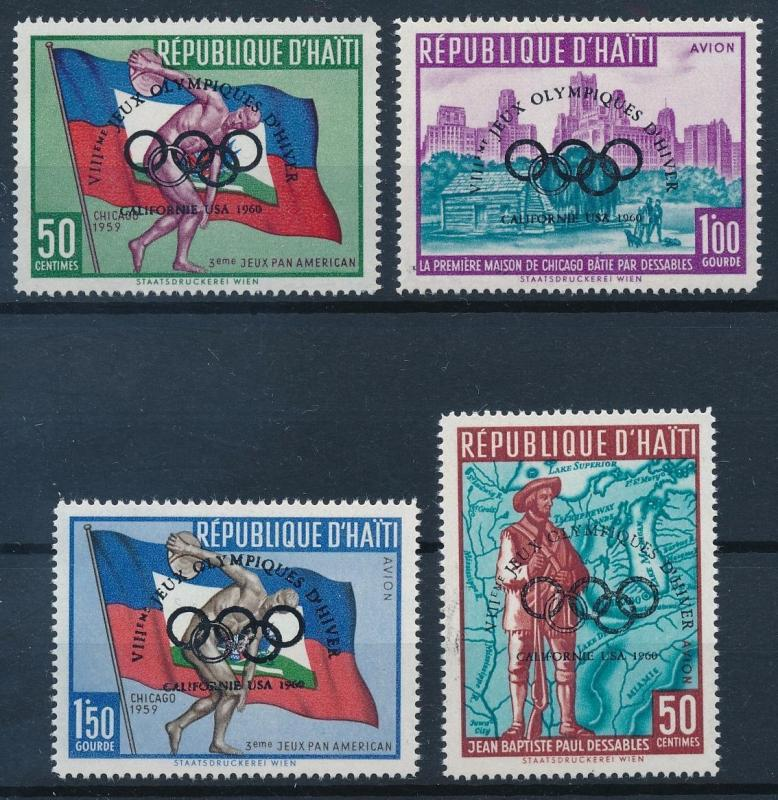 [62979] Haiti 1960 Olympic Games Squaw Valley Overprint MNH