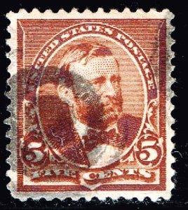 US STAMP #222 4c Regular Issue 1890 Used stamp XF
