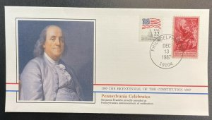 US #1073,2115 On Cover - Bicentennial of Constitution 1787-1987 [BIC46]
