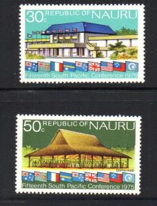 Nauru Sc 128-9 1975 South Pacific Conference stamp set mint NH