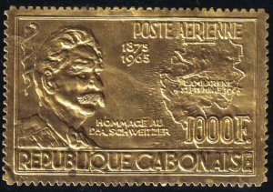 Gabon 1965- SC C39 MNH Foil Dr Schweitzer