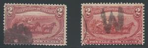 Scott 286, Two Nice cancels, Face & Letters