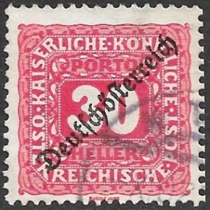 Austria Postage Due Scott # J69 Used. Free Shipping for All Additional Items.