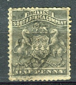 RHODESIA: 1890-92 early classic Springbok issue used Shade of 1d. value