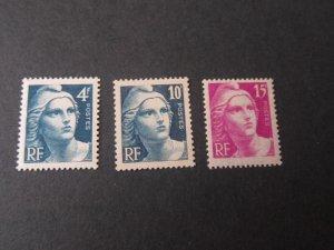 France 1945 Sc 548-50 set MNH