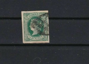 spain colony 1866 ½ reale used stamp cat £110+ ref 13613